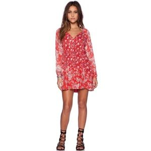 Free People Lucky Loosey Floral Tunic Dress